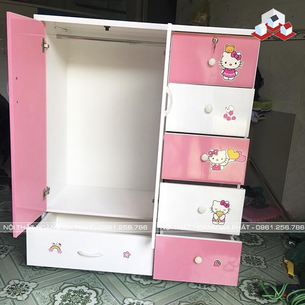 tủ nhựa cho bé 2 cánh 6 ngăn